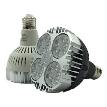 Супер яркий PAR30 E27 светодиодный направленный свет 35 Вт Светодиодный светильник светодиодное освещение, лампа AC100-240V теплый/холодный белый Светодиодный прожектор