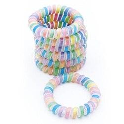 Bracelet gomme à fil élastique 5 pièces | Chouchou populaire pour téléphone pour femme, corde colorée grande taille 5 cm