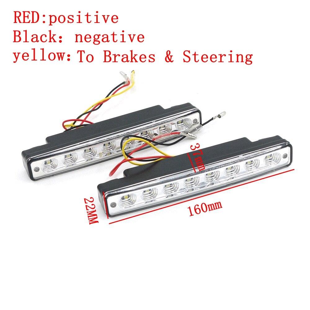Eonstime 12V 2бр. DRL светодиодни дневни - Автомобилни светлини - Снимка 3