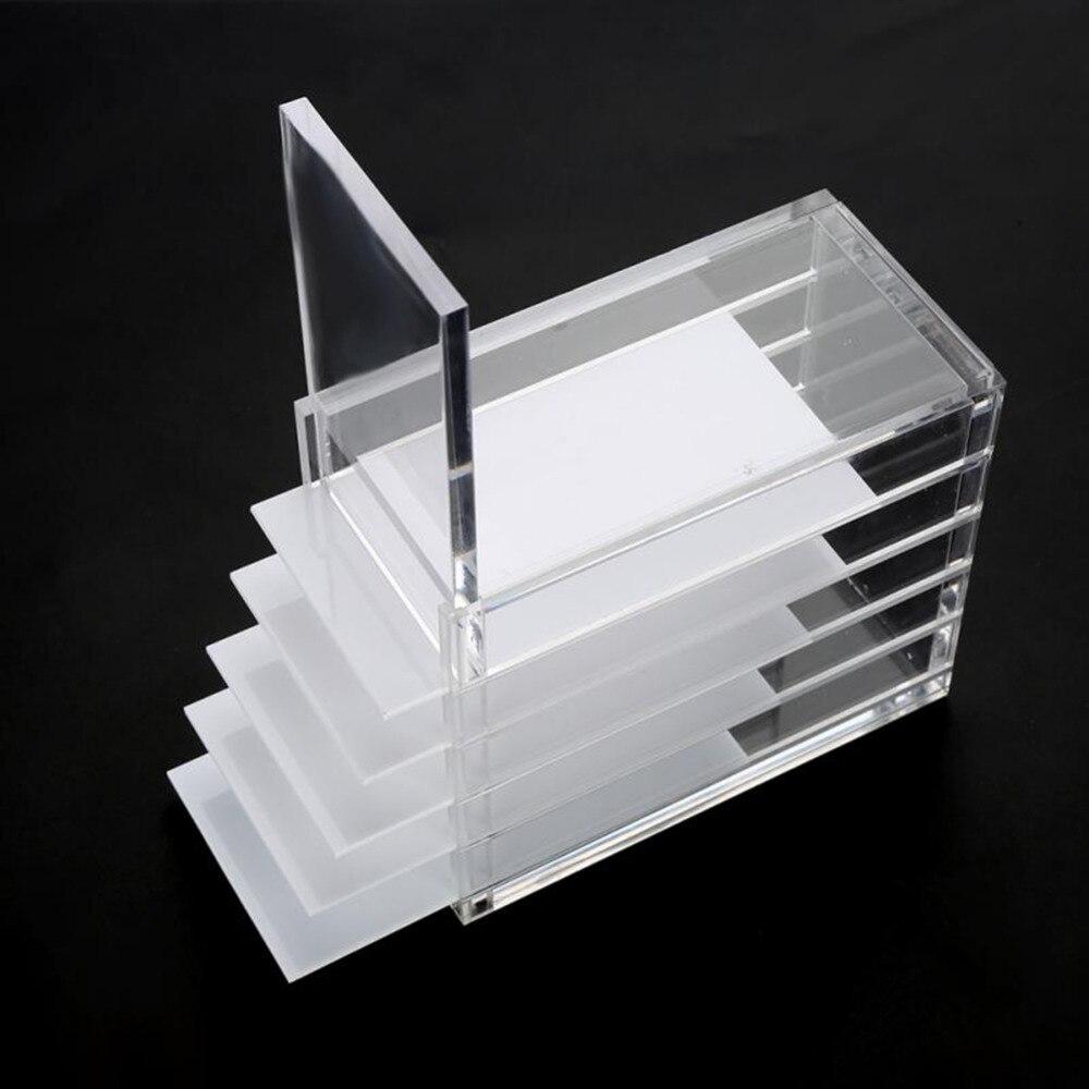 5 couches boîte de rangement de cils maquillage affichage conteneur greffage outil d'extension de cils clair cils colle porte-palette