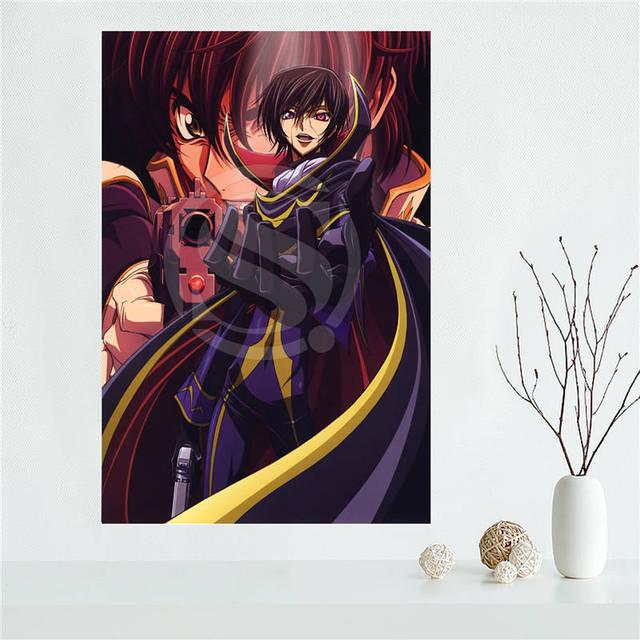E #627L45 Personnalisé Code Geass Anime Toile Peinture Mur Soie Affiche  Du0027impression De