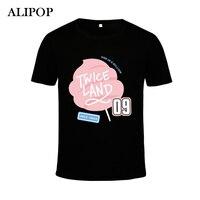 ALIPOP Kpop Koreaanse TWEEMAAL Land Twiceland Seoul Album Concert EEN TWEEMAAL IN Een MILJOEN Katoen Tshirt K-POP T-shirts T-shirt PT372