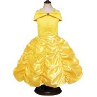 Belle Prinses Jurken voor Meisjes Jurk Schoonheid en Het Beest Jurk voor Kids Party Kleding Magic Stick Crown Kinderen Kostuum