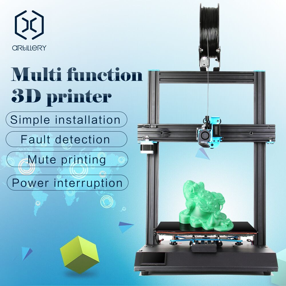 US $435 0  Artillery Sidewinder X1 SW X1 Large Size 3D Printer  300*300*400mm High Precision 3d printer Heat up to 80C for less than 2  mins-in 3D