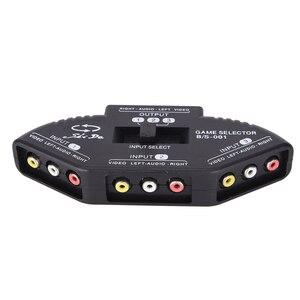 Image 4 - Tonbux 3 דרך אודיו וידאו AV RCA ספליטר שחור מתג בורר תיבת ספליטר עם/3 RCA כבל