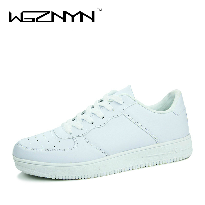 new 2017 casual shoes white pu leather shoes black