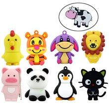 Cute Cartoon Cat Donkey USB Flash Drive Animal Lion Tiger Pig Memory Stick Pendrive USB Stick