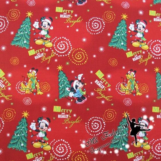 110 * 50cm1pc Weihnachten Stoff 100% Baumwolle Stoff Weihnachten - Kunst, Handwerk und Nähen - Foto 2