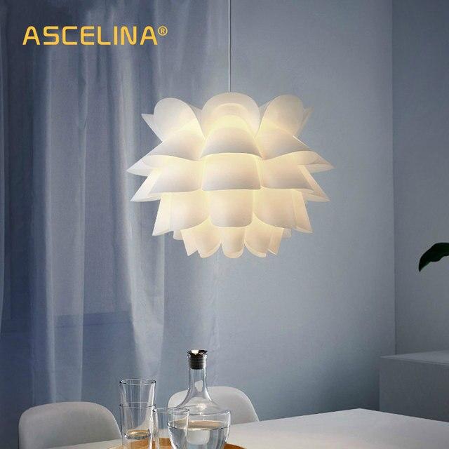 Pendente Luz pingente Lâmpada Moderna iluminação criativa Nordic lótus branco pendurado Quarto lâmpada sala de estudo bar arte decoração