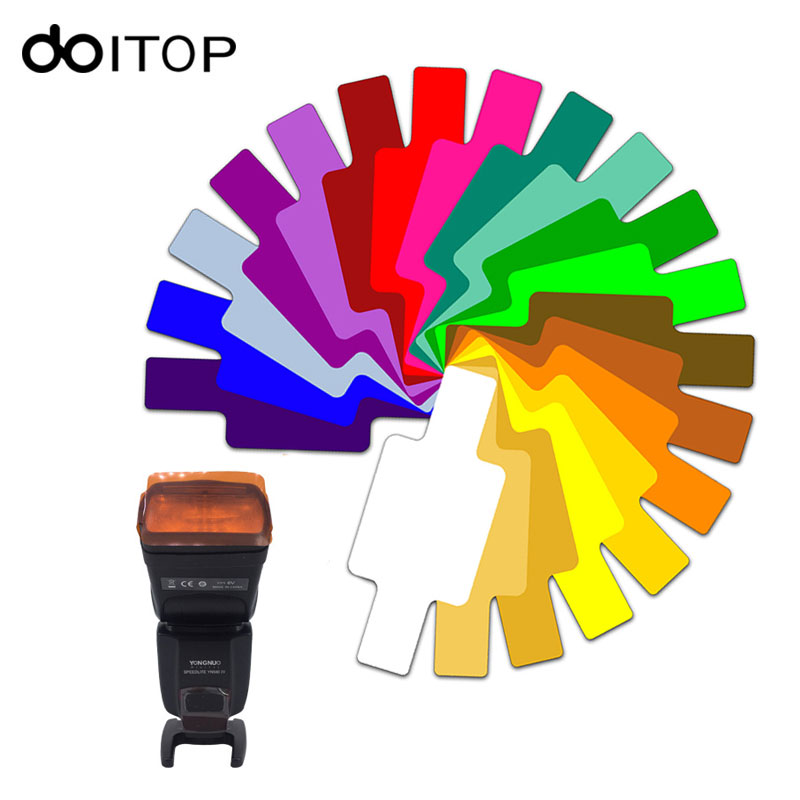 Doitop 20 Color Photographic Color Gels Filter Card