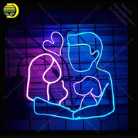 Girl and boy fall in Love Neon Sign Neon Bulbs sign Iconic Beer Bar Pub Bird light Lamps Sign display advertise enseigne lumine