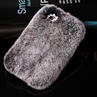 פרוות ארנב אמיתיות יוקרה בלינג ריינסטון מקרה של samsung Galaxy S7 G930 G9300 S7 קצה G9350 G935 G935F SM-G935F מקרה טלפון כיסוי