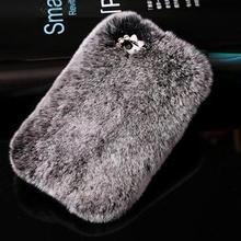 Luxury Bling Real Rabbit Fur Rhinestone Case for Samsung Galaxy S7 G930 G9300 S7 Edge G9350 G935 G935F SM-G935F Phone Case Cover