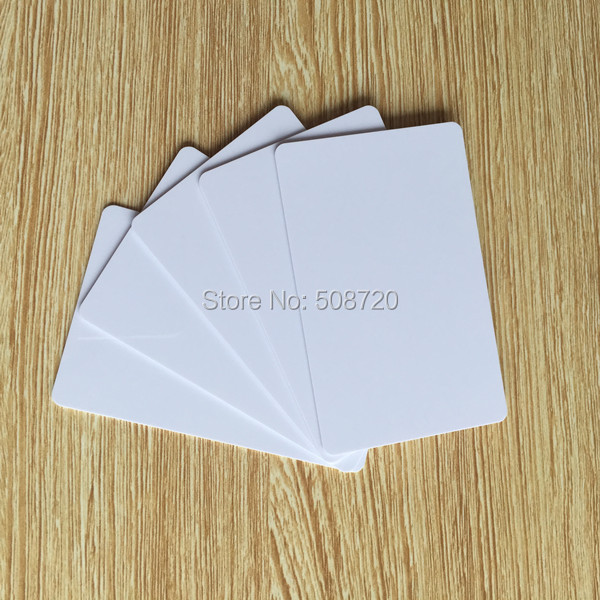 13.56MHZ ISO14443A chip PVC BLANK WHITE PLASTIC card MIFARE Classic 1K RFID card -1000pcs цена