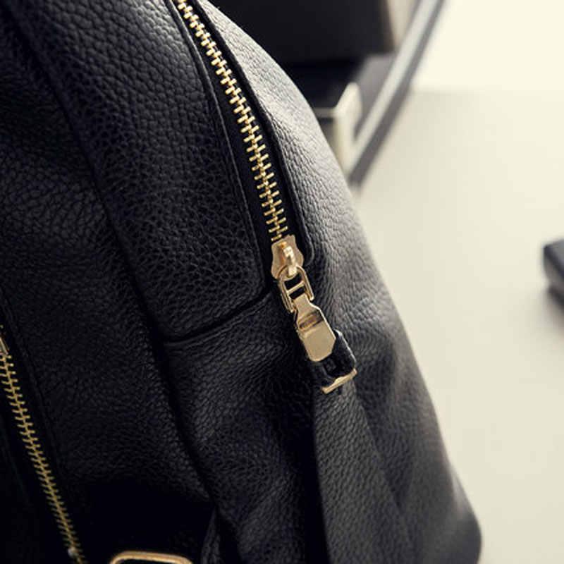 2019 Горячая новинка, повседневный женский рюкзак, женские рюкзаки из искусственной кожи, черная сумка-рюкзак, Повседневная дорожная сумка для девочек