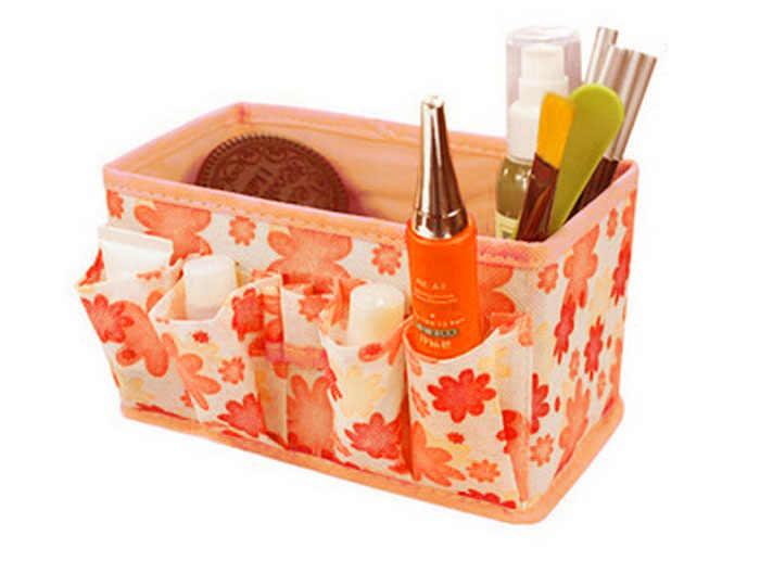 5 цветов, домашний складной органайзер для макияжа, косметичка для хранения косметики, Настольная ручка joyero escritorio organizador de maquillaje