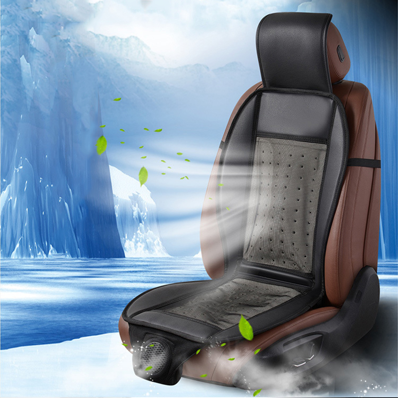 Automobiles Seat Covers 12V Cool Wind In Summer Car With Electric Fan Air Blower Ventilation Cushion