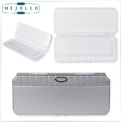 Free shipping MIJELLO MWP-3032 Expert Level Bullet-proof glass Watercolor watercoulour Palette 32 Grid colors Large Capacity