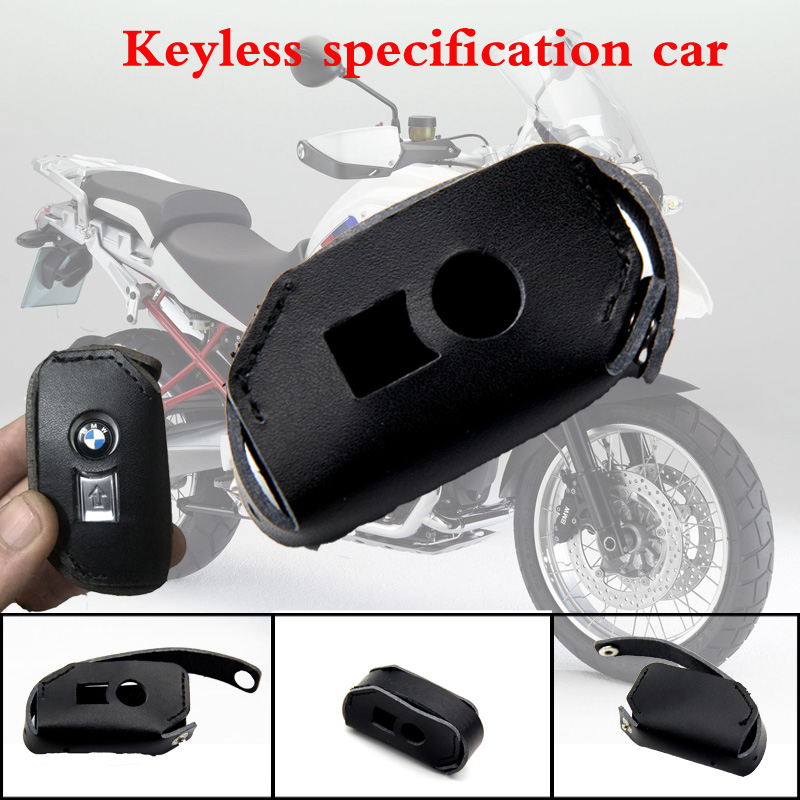 For <font><b>BMW</b></font> K1600 R1200GS R1200R <font><b>R1200RT</b></font> LC One-click Start Remote Control Package Keyless Start Key Case Holder Real Leather R1200 image