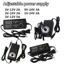 Universal power adapter Adjustable AC to DC 1V-24V 3V-12V 3V-24V 9V-24V display screen voltage Regulated supply adatpor 2A 3A 5A