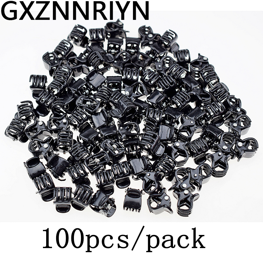 1cm 100pcs/pack Hair Claw Clips For Women Girls Accessories Black Brown Transparent Plastic Mini Claws Hairclip Clamp Gifts