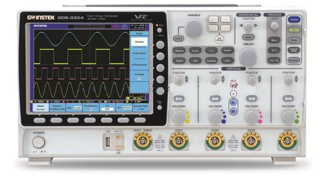 Big Sale Digital Oscilloscope GDS-3354 DSO,5GSa/s,8 inch 800*600 LCD 350MHz, 4 channel,DSO