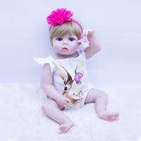 Super realistic vinyl skin bebes reborn doll girl silicoonoe reborn baby dolls toy Non toxic waterproof newborn doll Children's