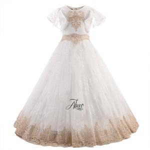 Image 5 - Meisjes Eerste Communie Jurken Voor Meisjes Bloem Meisje Jurk Voor Bruiloften Prom Jurken Voor kids Kinderen Baby Elegante Kostuum
