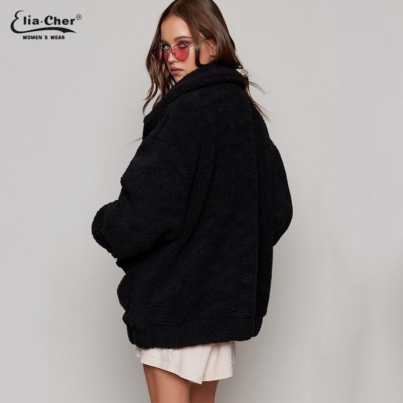 beige Femmes 8971 En Hiver Manteau La Tops Occasionnels Vestes Plus Chaud Peluche D'hiver Taille Nouveau Marque Veste Eliacher Parka Printemps Black RA5UqqxpB