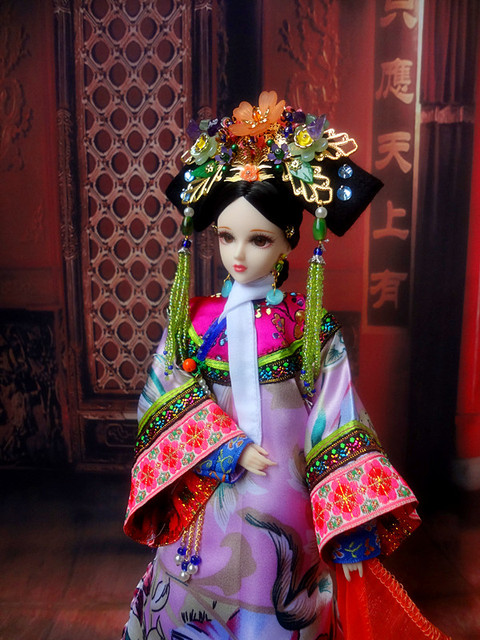 1/6 Collectible Chinese Ancient Girl Dolls like BJD Doll 12 Joint Body Qing Dynasty Princess Dolls Birthday Christmas Gifts