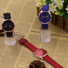 Popular Lady Fashion Geneva Roman Numerals Faux Leather Anal