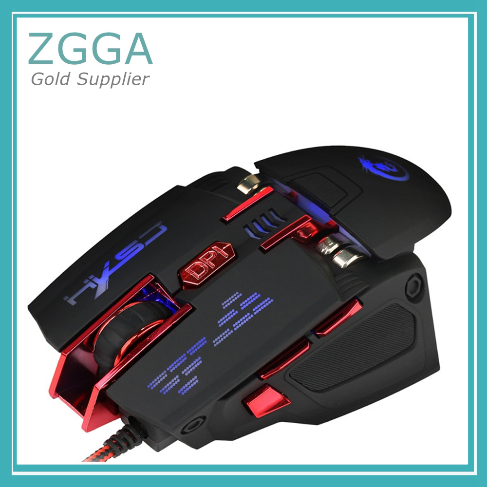 Wired Optical Mouse USB Computer Mice Adjustable DPI Max 4000 7 Buttons LED Backlight gaming usb wired mouse zelotes c 12 programmable buttons led optical usb gaming mouse mice 4000 dpi souris sans fil