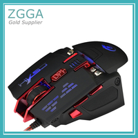 Wired Optical Mouse USB Computer Mice Adjustable DPI Max 4000 7 Buttons LED Backlight
