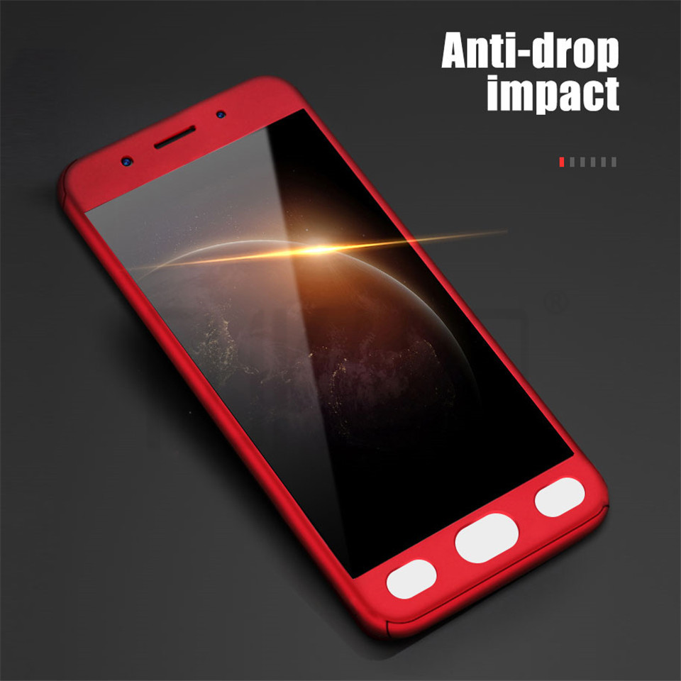 360 Degree Full Cover Protection Case For Xiaomi Redmi 4X 6A 5A 4A Phone Case For Xiaomi Redmi 5 Plus 6 Pro With Tempered Glass
