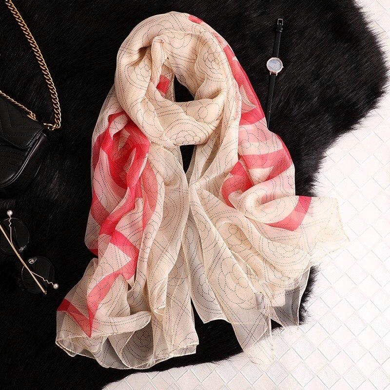 2019 High-grade summer oversize beach   scarf   women   wrap   female shawl summer pareo chiffon bandanna ladies muffler foulard   scarves