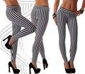 T2365 Один размер леггинсы женщины популярные trend оптом и в розницу fitneww одежда черно-белые вертикальные полосатые гетры
