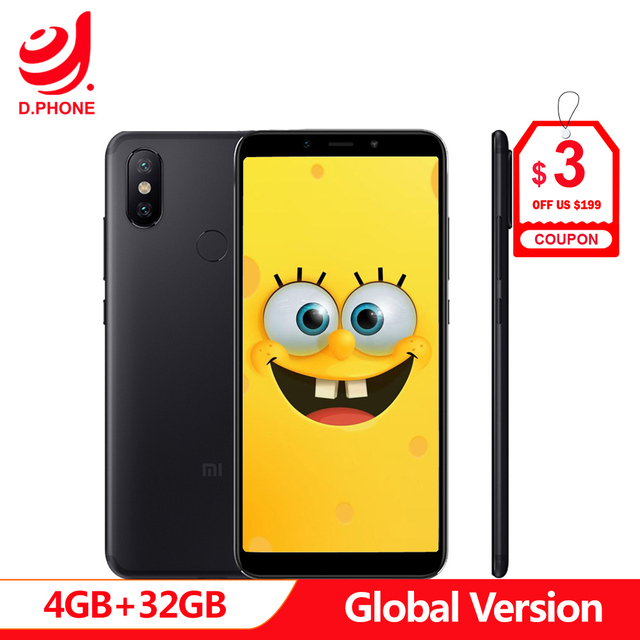 Spain 1~5 Work Days Global Version Xiaomi Mi A2 4GB 32GB Android One 5.99 Full Screen S660 AI Dual Camera Mi A 2 Cellphone