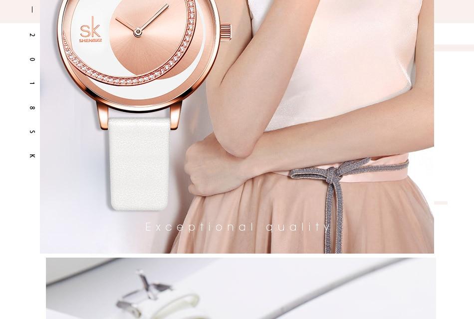 SK Shengke Rhinestone Watches For Women Brand Ladies Quartz Wrist Watch Reloj Mujer 2019 Luxury Stainless Steel Women Watch xfcs (3)