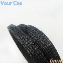 1 м черный нейлон плетеный кабель трубки Экранирование обшивка Авто Провода использование 6 мм