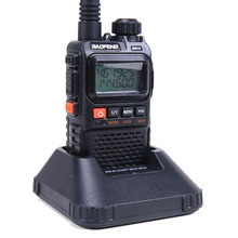 Le Plus nouveau baofeng uv 3r Plus Interphone deux 2 voies Radio Mini talkie walkie Portable pour la Radio Mobile Uhf double bande Vhf Radio Marine