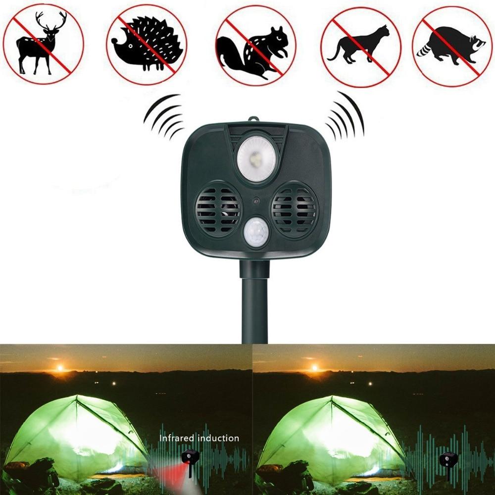 Répulsif solaire imperméable à l'eau pour chien et chat répulsif pour animaux répulsif pour souris avec détecteur infrarouge