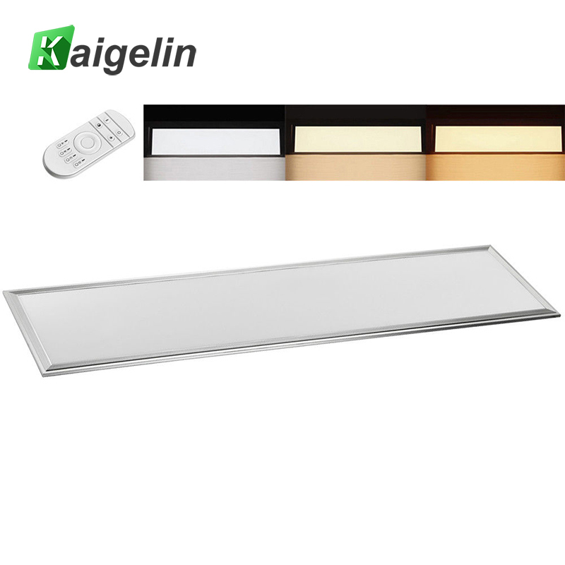 Kaigelin LED Panel Dimmable Light 1200x300 42W Dimmable LED Ceiling Panel Light Remote Controll Office Industrial Ceiling Lamp