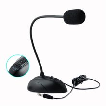 YCDC Flexible Stand Mini Studio Speech Microphone 3.5mm Plug Gooseneck Mic Wired Microphone for Computer PC Desktop Notebook(China)