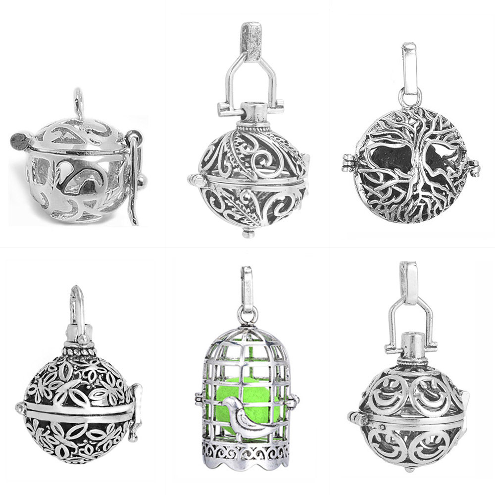 1pc Cage Music Ball Бала Diffuser Ожерелье Locket Pendants Пренатальды Editation DIY Жүктілік Essential Oil Ожерелье