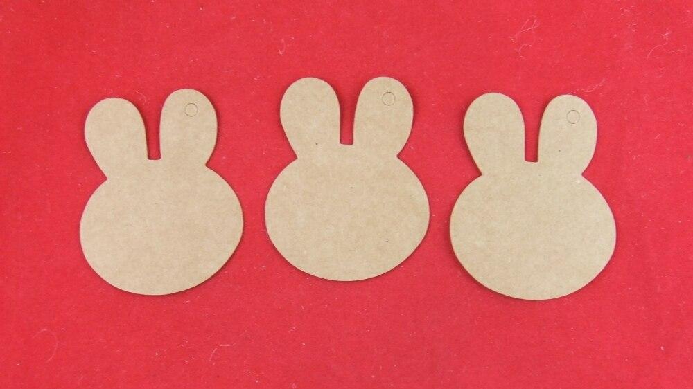 Крафт-бумага, милая маленькая голова кролика, Необычные бирки, Подарочные бирки, креативные бирки своими руками