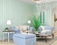 Beibehangpapel De Parede Stripe Wallpaper 3D Solid Color Nonwoven Wall Paper Bedroom The Bedroom Of Warm