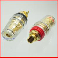 "20pcs/lot 10 pair Terminal Binding Post Speaker 5mm Cable 4mm Banana Audio Tube M8 chassis 1.8"""