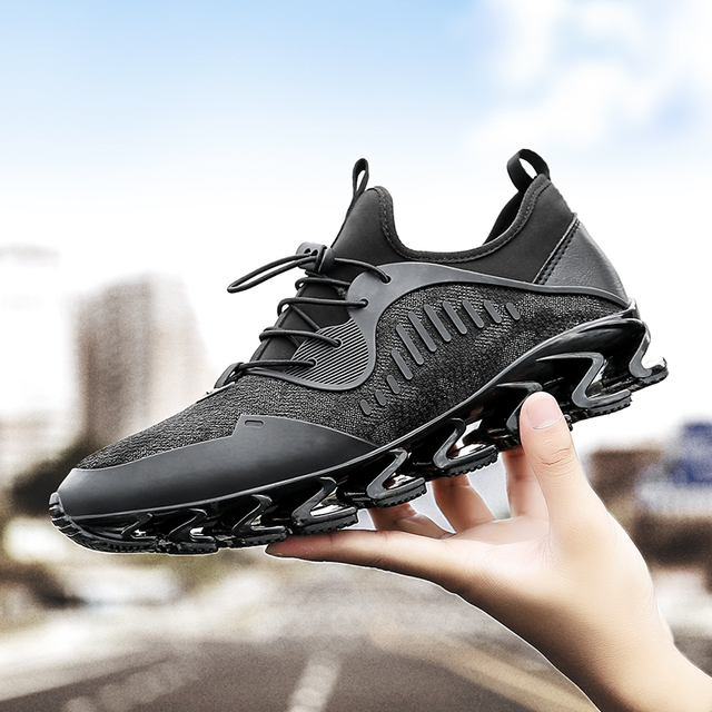 e49b05e9326 Plus Size Men Running Shoes Bow-Blade Outdoor Sports Shoes for Men  Cushioning Spring Blade Shoes Cool Breathable Male Sneakers