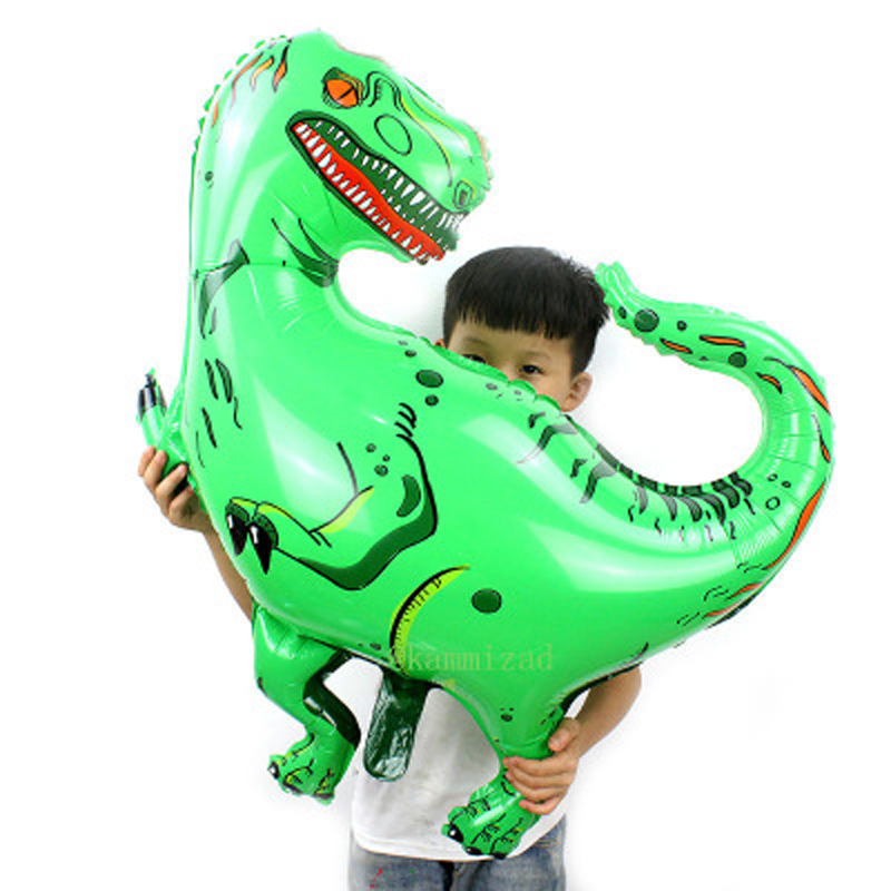 1pcs Giant Dinosaur Aluminum Foil Toys Party Hat Tyrannosaurus Green Rex Toys Ballons Birthday Party For Children Floating Toys