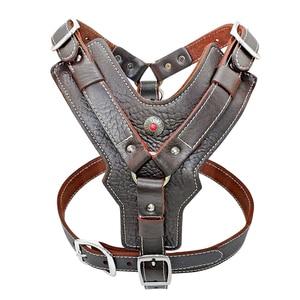 Image 5 - Coleira de couro genuíno para cães grandes, coleira para adestramento com alça de controle rápido ajustável, para labrador pitbull k9